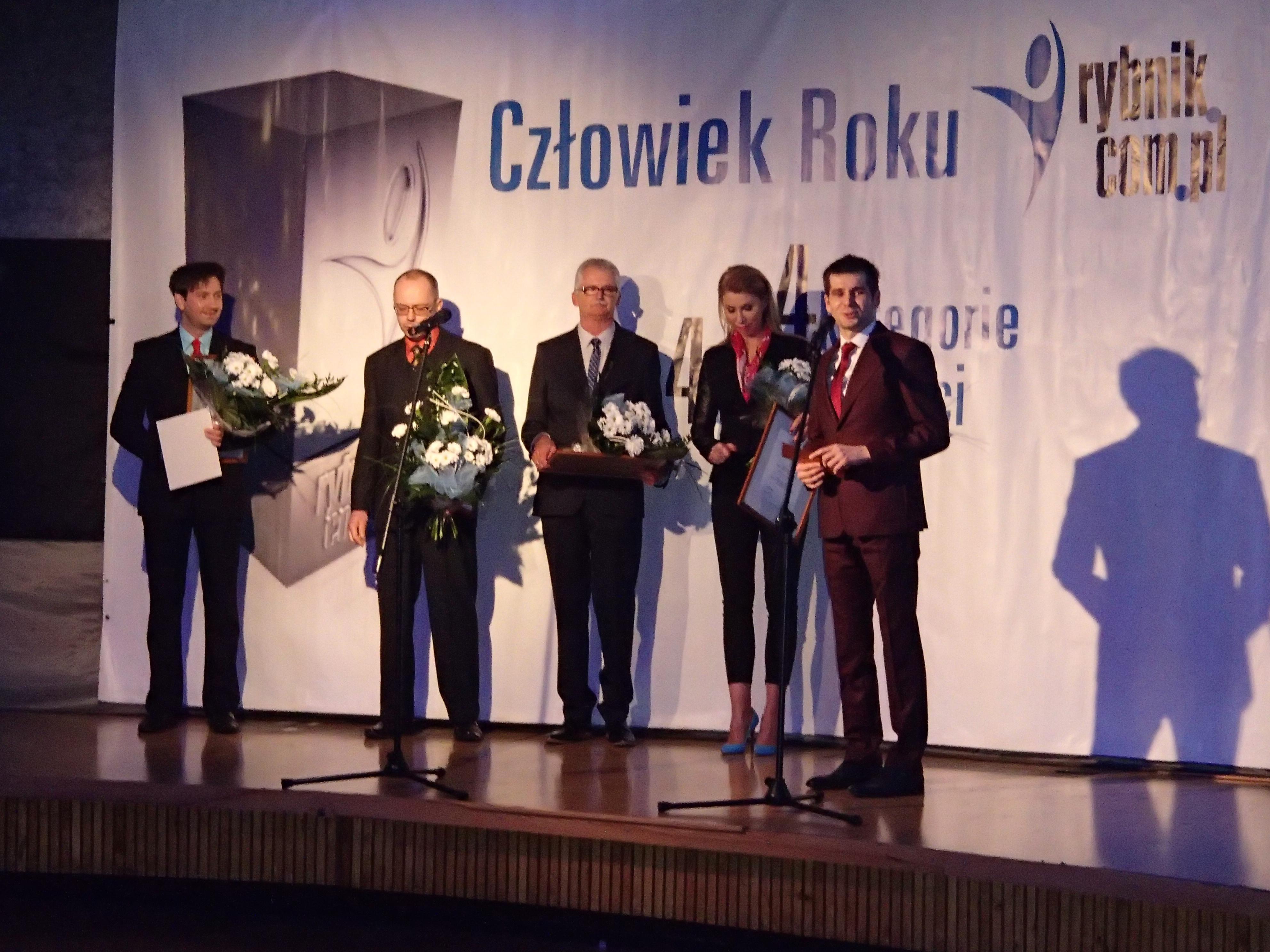 Rafał Piszczek na Gali Człowiek roku 2013 rybnik.com.pl